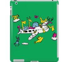 Cartoon Animals on a Airplane iPad Case/Skin