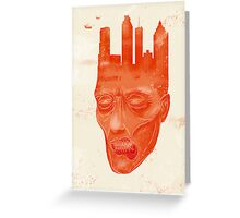 Zombie city Greeting Card