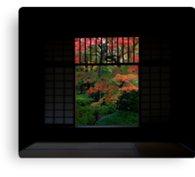Open Window to Early Autumn Canvas Print