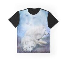 Soul Mates - White Wolves Graphic T-Shirt
