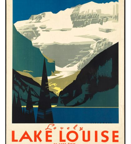 Vintage Travel Poster: Lake Louise Sticker