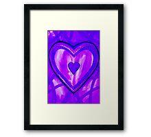 I Love Purple Framed Print
