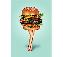 """Stacked"" - Cheeseburger Girl Photographic Print"