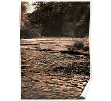 Fly Fishing The Spillway Poster