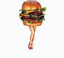 """Stacked"" - Cheeseburger Girl Unisex T-Shirt"