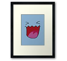 Pokemon faces - wobbufett Framed Print