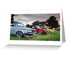 Classic VW Lineup Greeting Card