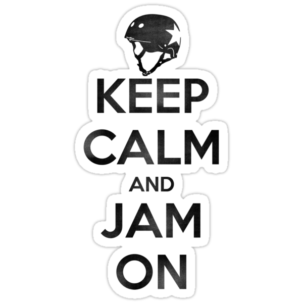 Keep Calm and Jam On, Distressed Decal by five5six