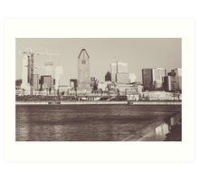 Montreal Black and White Art Print
