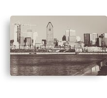 Montreal Black and White Canvas Print