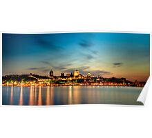 Sunset Over Quebec City Poster