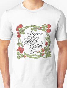 Sigma Alpha Epsilon Pi Floral Border #2 Unisex T-Shirt