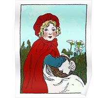 Little Red Riding Hood Painting Poster