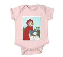Little Red Riding Hood Painting One Piece - Short Sleeve