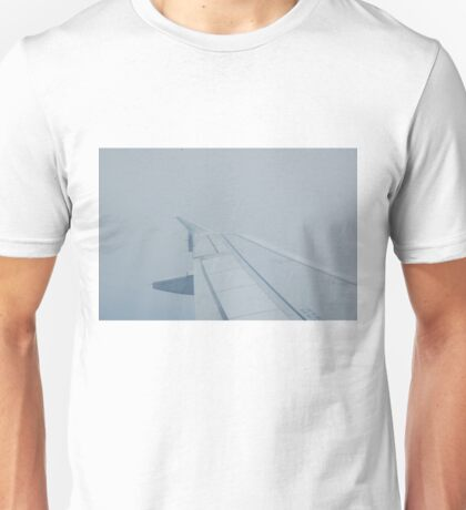 Cloudy Airplane Unisex T-Shirt