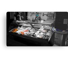 Fish Stall Metal Print
