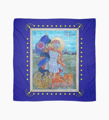 ST. FLORIAN -- INDIANA STATE FLAG Scarf