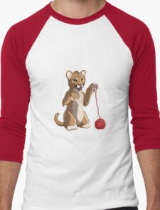 Playful cougar Men's Baseball ¾ T-Shirt