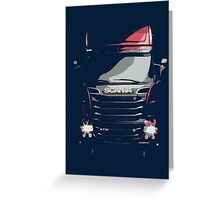 Scania Trucker Greeting Card