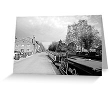 Boats at Fradley Junction  Greeting Card