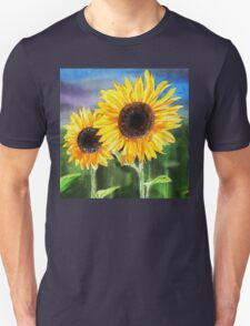 Two Suns Sunflowers T-Shirt