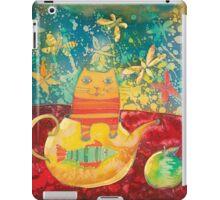 Cat in Yellow Teapot iPad Case/Skin