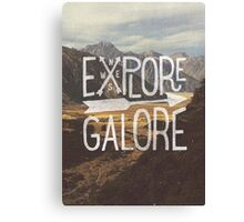 Explore Galore Canvas Print