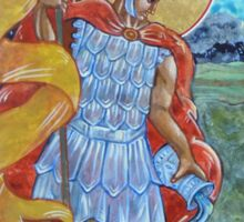 St. Florian Icon - Patron Saint of Firefighters. E mail me to find out how to have your logo or state flag on the shield! Sticker