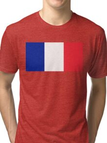 Flag of France - High quality authentic version Tri-blend T-Shirt