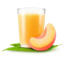 Glass of peach juice by 6hands