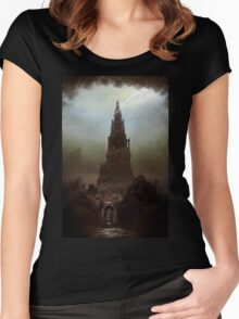 Frankenstein's Castle Women's Fitted Scoop T-Shirt