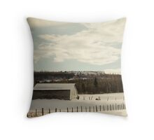 The Snowy Field Throw Pillow