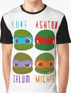 5 seconds of summer ninja turtles Graphic T-Shirt
