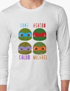 5 seconds of summer ninja turtles Long Sleeve T-Shirt