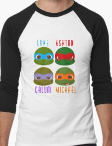5 seconds of summer ninja turtles Men's Baseball ¾ T-Shirt