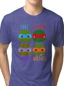 5 seconds of summer ninja turtles Tri-blend T-Shirt