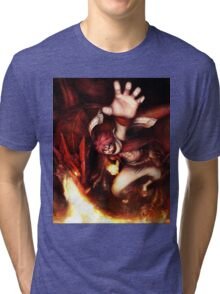 Fairy Tail-Natsu and Igneel-Full Graphic Shirt Tri-blend T-Shirt