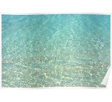 Colors of the Sea Water - Clear Turquoise Poster