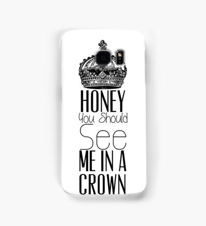 """""""Honey you should see me in a crown"""" Moriarty quote from Sherlock (BBC) Samsung Galaxy Case/Skin"""