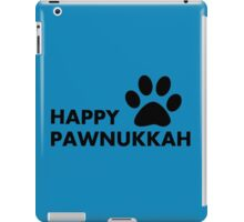Hanukkah dog - happy paw - nukkah iPad Case/Skin