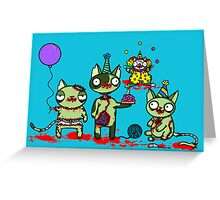 Zombies know how to party Greeting Card
