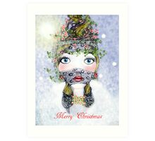 Ivy Holly Card Art Print