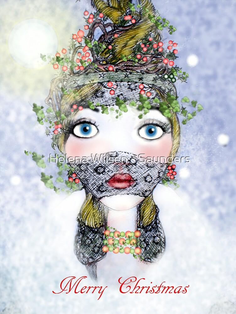 Ivy Holly Card by Helena Wilsen - Saunders