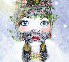 Ivy Holly Card by Helena Wilsen - Saunders