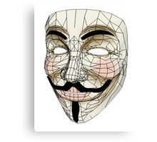 V for Vendetta Mask Canvas Print