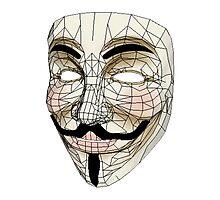 V for Vendetta Mask Photographic Print