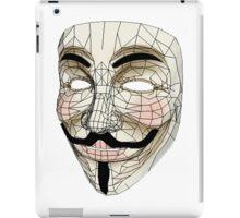 V for Vendetta Mask iPad Case/Skin