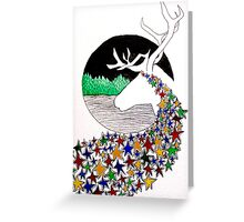 Abstract Caribou Greeting Card