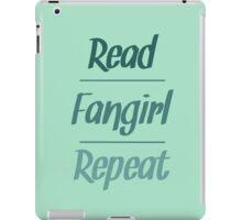 Read Fangirl Repeat iPad Case/Skin