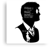 Harry Potter Silhouette Quotes Canvas Print